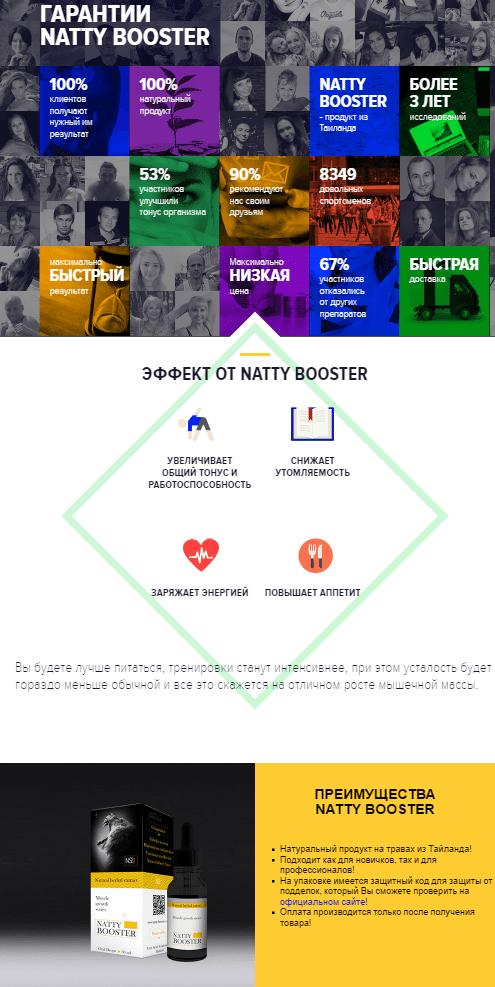 Капли Natty Booster (Нетти Бустер) для набора массы купить