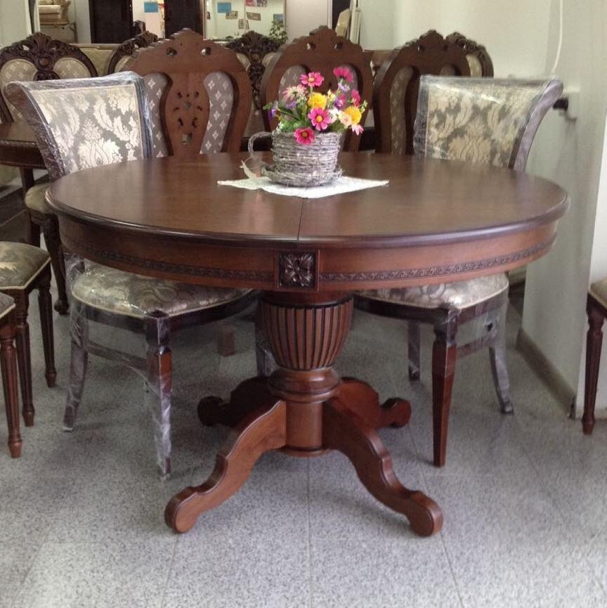 Круглый обеденный стол раздвижной Степ Диаметр: 100 (+30 ) см. 1000*1000мм цвет орех, из массива дерева бук - фото pic_12b6e807b5ace6c49b93ad90fa25dbd8_1920x9000_1.jpg