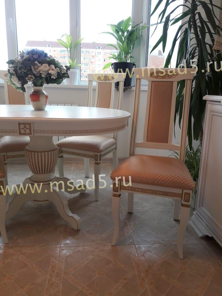 Обеденный комплект Альфа Стол +4 стула цвет слоновая кость - фото pic_59aa0b5a13f5e94885bf06f4983d3742_1920x9000_1.jpg