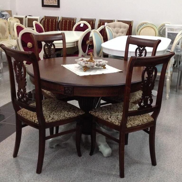 Круглый обеденный стол раздвижной Степ Диаметр: 100 (+30 ) см. 1000*1000мм цвет орех, из массива дерева бук - фото pic_8f3f638ab4fc1a95c07cb665534cdfee_1920x9000_1.jpg