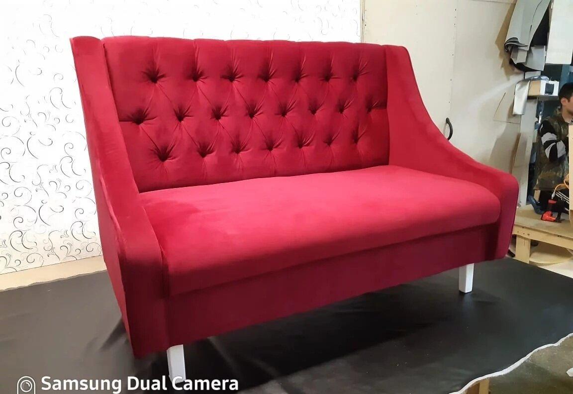 Диван Жасмин в велюре цвет красный 160х70 см. - фото pic_548e8e57ac25ff759cc640145763b261_1920x9000_1.jpg