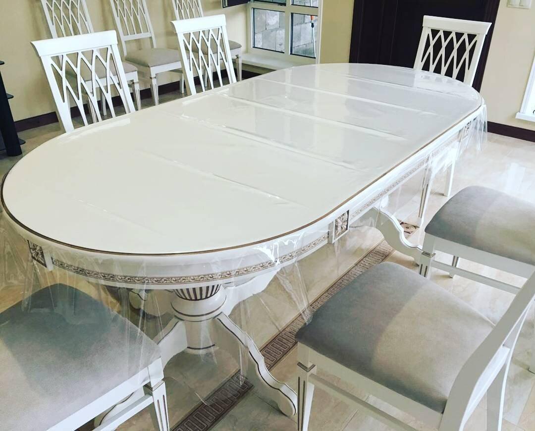 Стол 200*100 (+50) см., раздвижной 2-х тумбовый стол из массива бука Цвет: Слоновая кость с золотой патиной - фото pic_801c2cbcbd5112d8496a6faa31503af1_1920x9000_1.jpg