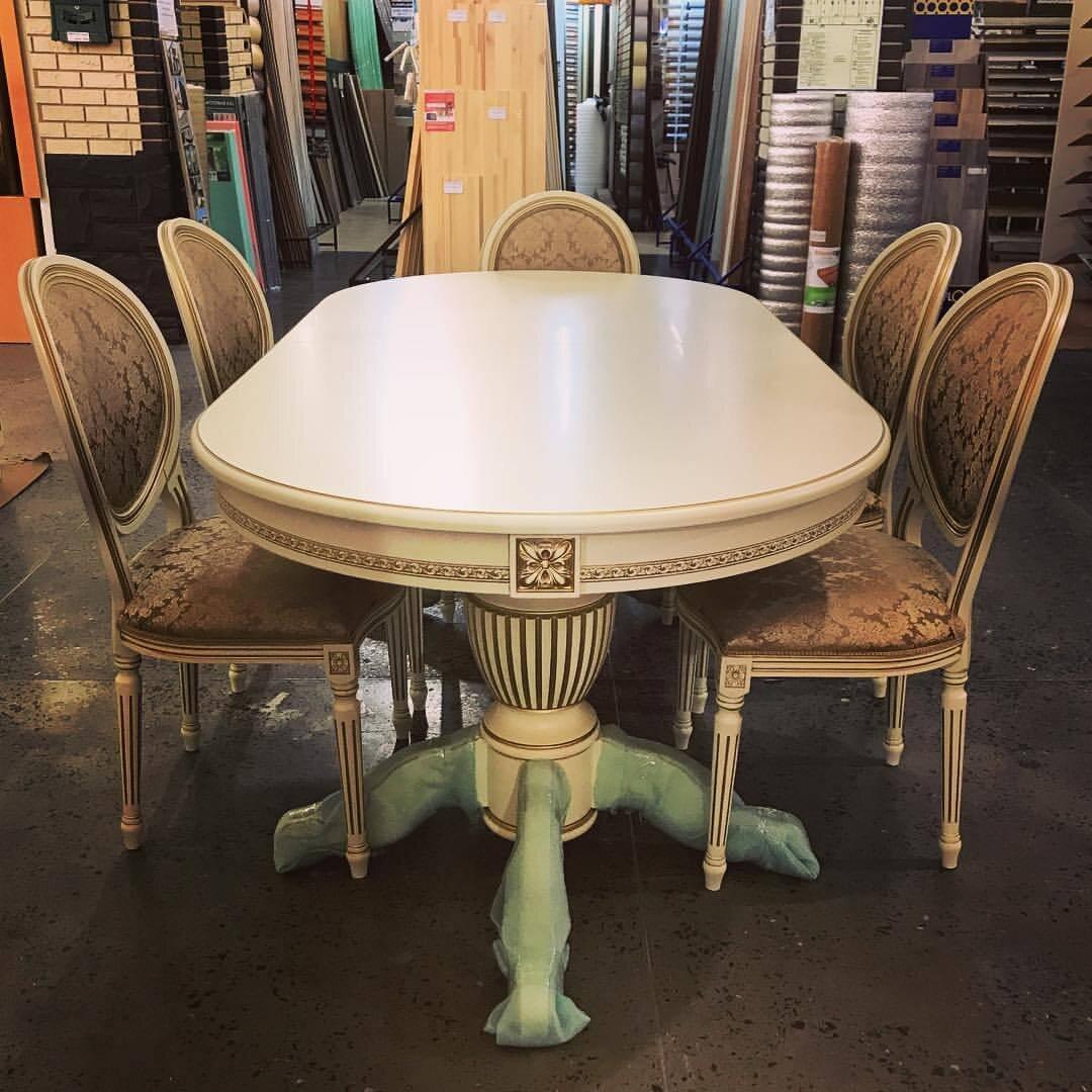 Стол 200*100 (+50) см., раздвижной 2-х тумбовый стол из массива бука Цвет: Слоновая кость с золотой патиной - фото pic_b4b28535b84e5ac6dc24074e521475ac_1920x9000_1.jpg