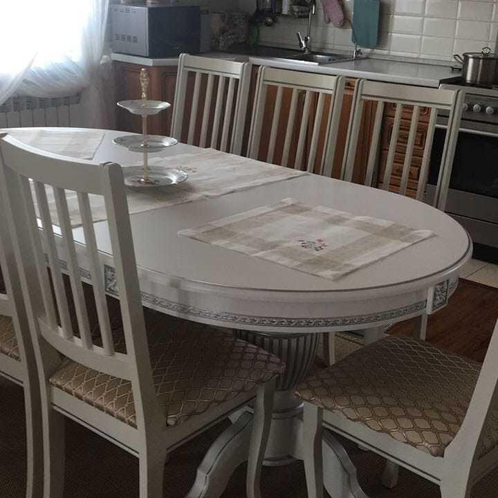 Стол 200*100 (+50) см., раздвижной 2-х тумбовый стол из массива бука Цвет: Слоновая кость с золотой патиной - фото pic_66b88814830143dcfa3c74f8aa0a1242_1920x9000_1.jpg