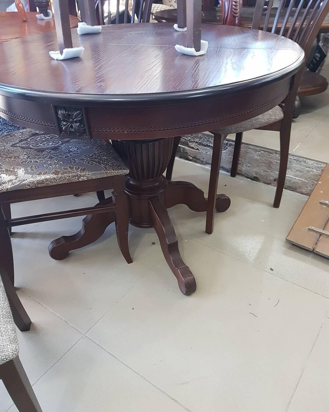 Круглый обеденный стол раздвижной Степ Диаметр: 100 (+30 ) см. 1000*1000мм цвет орех, из массива дерева бук - фото pic_1a04e157f9b6f3e6db68f5ad08ddeeff_1920x9000_1.jpg
