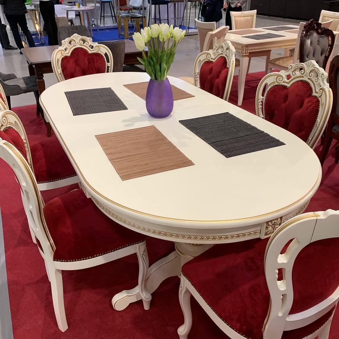 Стол 200*100 (+50) см., раздвижной 2-х тумбовый стол из массива бука Цвет: Слоновая кость с золотой патиной - фото pic_9c7a066dcf7b5ba95700d6152e074ed6_1920x9000_1.jpg