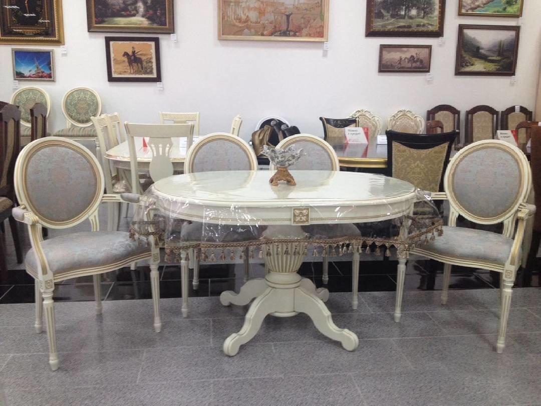 Овальный стол из массива бука цвет: белый Размер 90*130 (+50 ) см. - фото pic_83db1e086b539f6_1920x9000_1.jpg