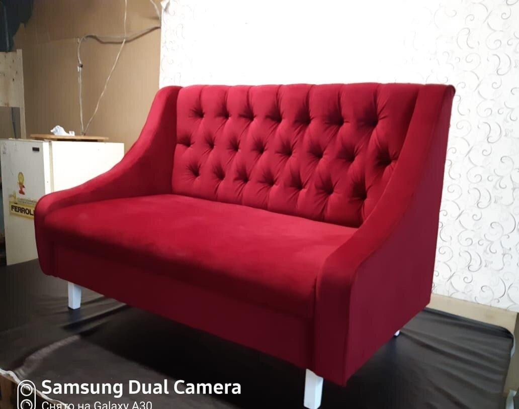 Диван Жасмин в велюре цвет красный 160х70 см. - фото pic_264333b24e26a1b1df977c64aa766939_1920x9000_1.jpg