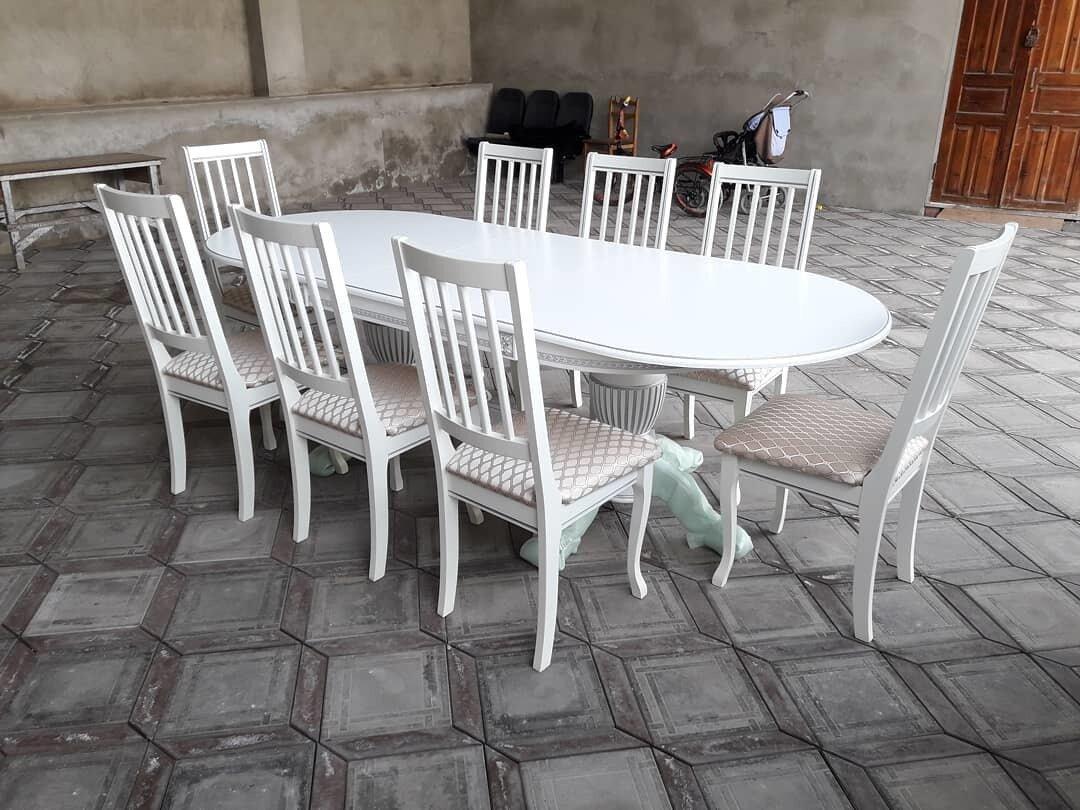Стол 200*100 (+50) см., раздвижной 2-х тумбовый стол из массива бука Цвет: Слоновая кость с золотой патиной - фото pic_e7d30c90b7e4bc72a8c79d6b97fa6321_1920x9000_1.jpg
