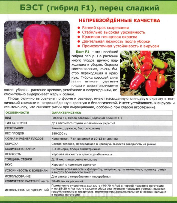 Перец Бэст F1. 500 семян. Sakata. Ранний красивый крупный конический высокоурожайный сладкий перец. - фото pic_9c345b7cd18a204dc059e41bcc58ad83_1920x9000_1.png