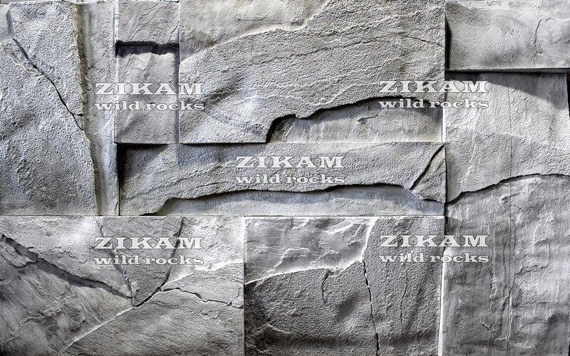 3D панели WILD ROCKS из больших плит песчаника