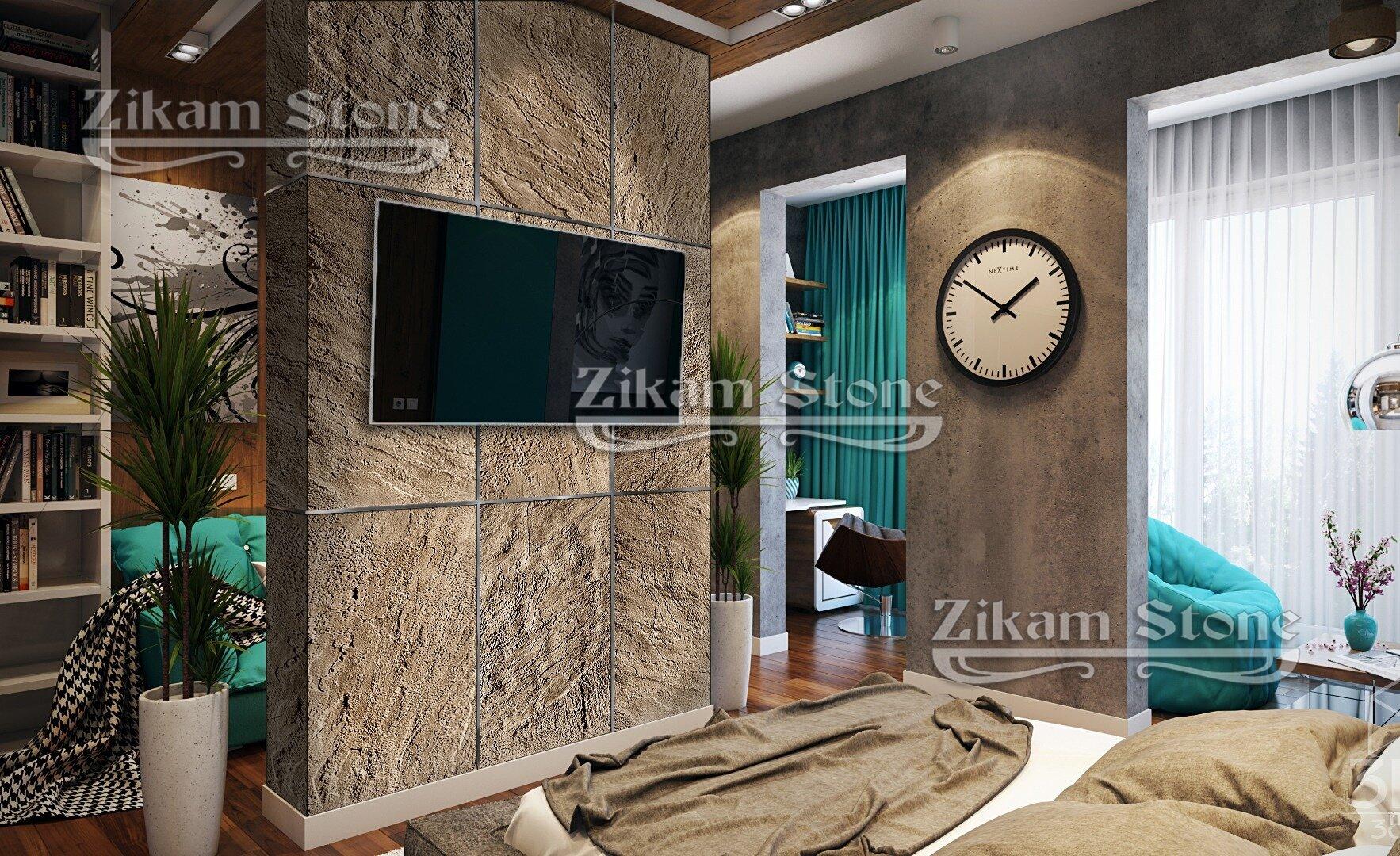 Гибкий каменный шпон ZIKAM Stone. Лист 1000х500 мм. Толщина 2-3 мм. Фасадно-интерьерный.