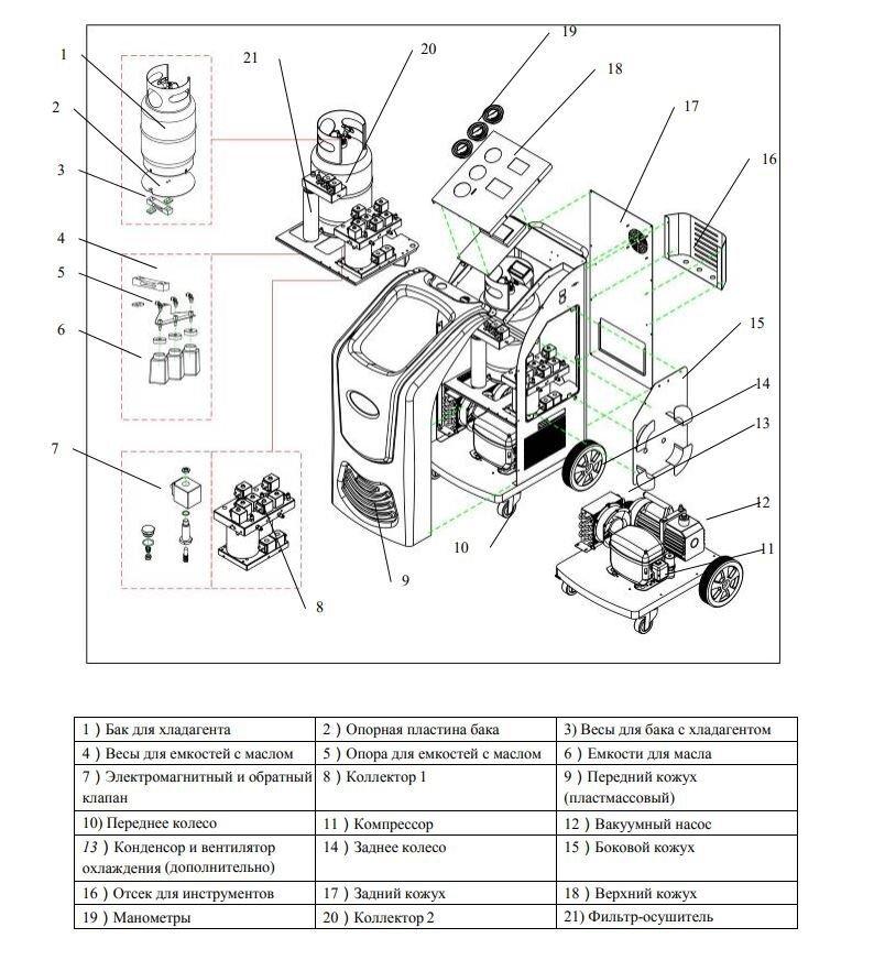 RCC-8A A/C Автоматич. установка для замены фреона R134A с принтером - фото pic_87bd5a1d71325211535b7dcb0800b8bb_1920x9000_1.jpg