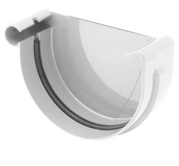 Заглушка желоба левая   BRIZA  100 мм (белый , коричневый , красный , графит) - фото pic_9c50182417862df_700x3000_1.jpg