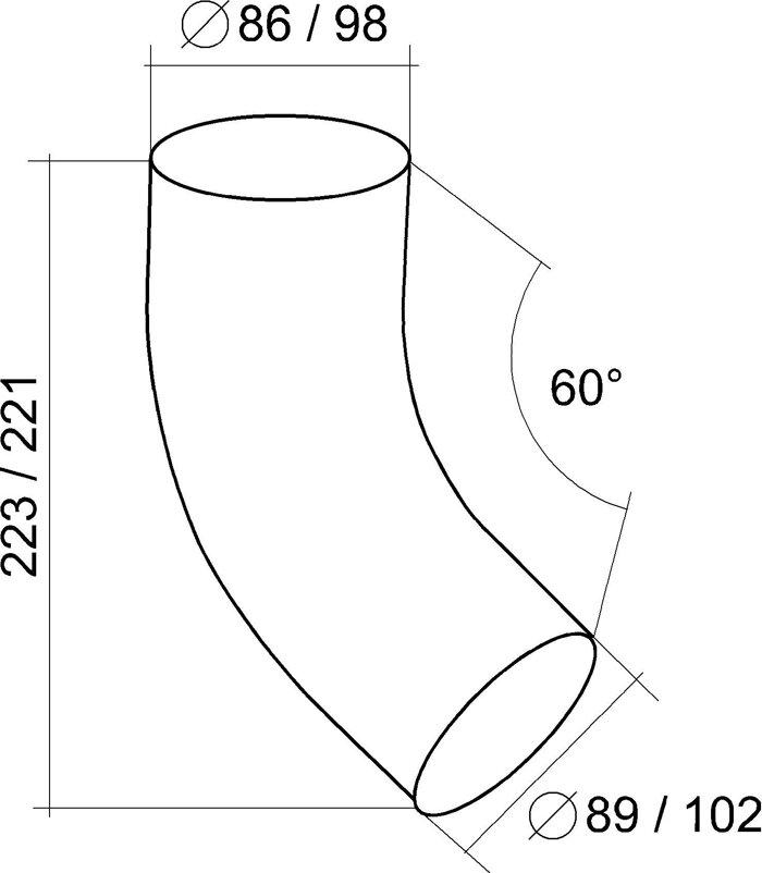 Колено трубы 60 градусов 125*90 Aluzink - фото pic_84e63e4bd57c0e4_700x3000_1.jpg
