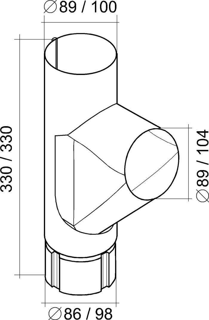 Тройник трубы 125*90 Aluzink - фото pic_60080eb82eb0733_700x3000_1.jpg