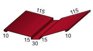 Планка ендовы верхней 115*30*115 Стальной бархат    0,5 - фото pic_25d66cdaf1a81e5_700x3000_1.jpg