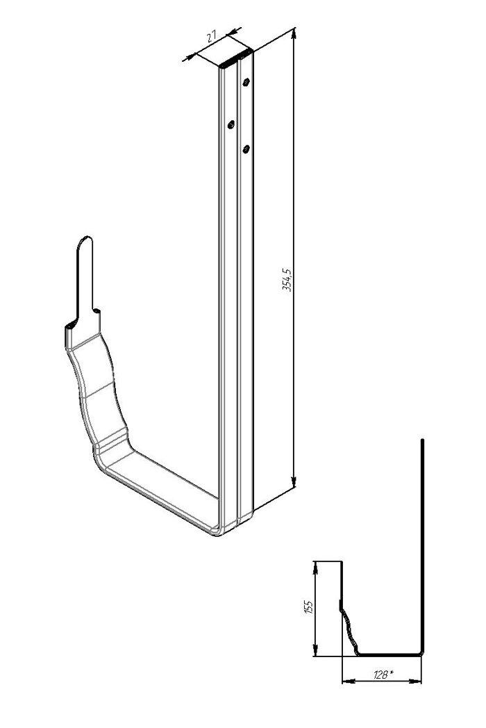 Крюк длинный VORTEX Цинк - фото pic_68e2320ddad4c82_700x3000_1.jpg