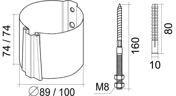Кронштейн трубы на кирпич 150*100  Grand Line - фото pic_9830cbcb051da46_700x3000_1.jpg