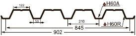 Профнастил  Н60 0.55  ЦИНК (Гранд Лайн) - фото pic_22b098637894071_700x3000_1.jpg