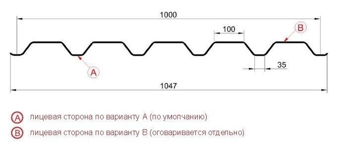 Профнастил  НС44 (0,45-0,9) ПЭ - фото pic_61a4c73d0f9ee62_700x3000_1.jpg