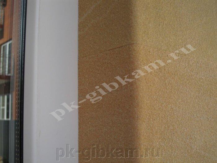 Гибкая плитка Рубин5 - 71*35.5 - фото угол окна