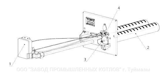 газовая горелка ГГУ-40 для банной печи