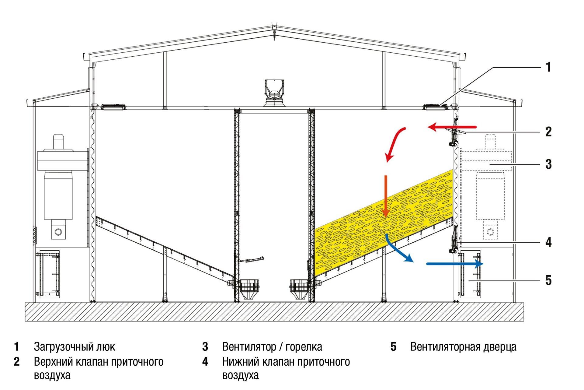 Сушильный цех для кукурузных початков DHS компании Петкус - фото Сушильный цех для кукурузных початков Петкус в Крыму