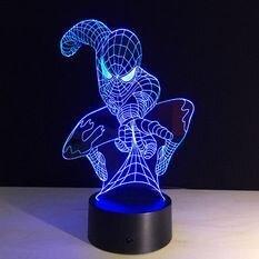 Светильники 3D Человек Паук - фото pic_3a23d4b37bb2d8f_700x3000_1.jpg