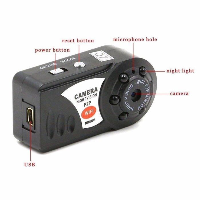 Мини Wi-Fi DVR Видеокамера+ Ночного Видения Motion Обнаружения Встроеный микрофон - фото pic_660b8cb557f50fe_700x3000_1.jpg