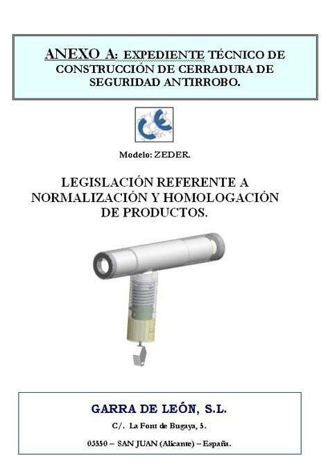 Механическое противоугонное устройство ZEDER - фото Certificat CE