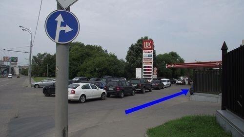 Тульская / Автозаводская - фото Поворот к Лукойл