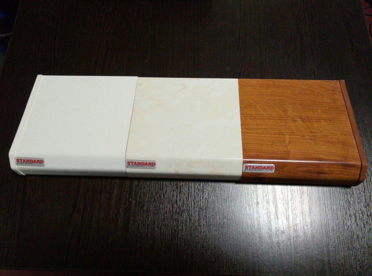 Подоконник DANKE Стандарт Белый Бежевый Золотой дуб - фото Данке стандарт 3 цвета
