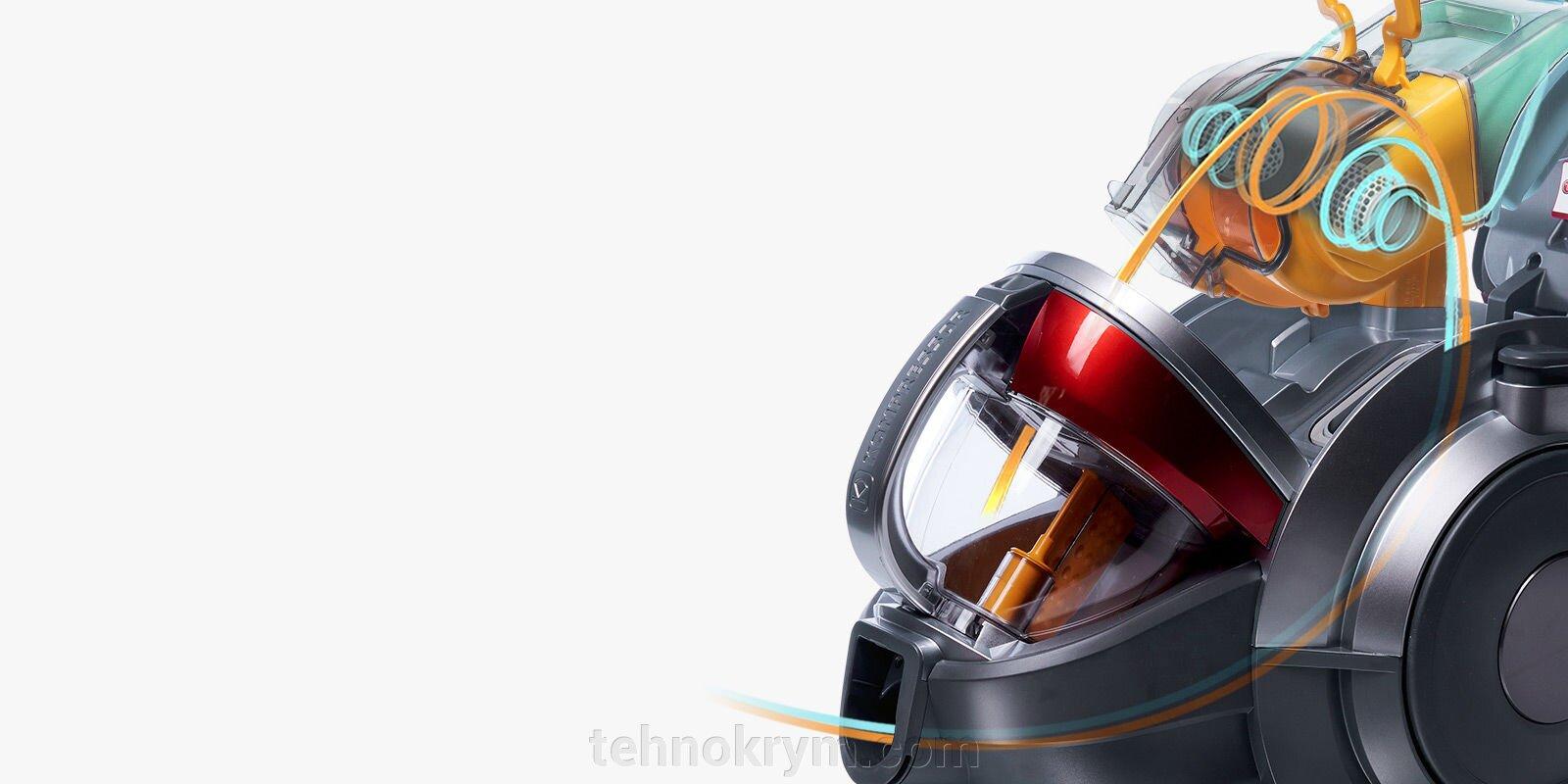 Пылесос LG VK89682HU, 1800Вт, красный - фото LG VK89682HU