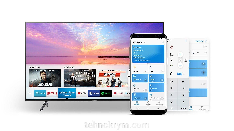 Smart телевизор SAMSUNG UE50NU7002UXRU, Ultra HD, ОС Tizen 4.0, модельный ряд 2018 года - фото SAMSUNG UE50NU7002UXRU