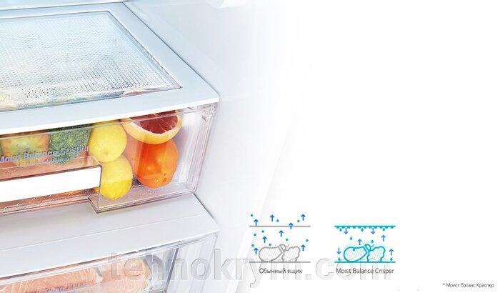 Двухкамерный холодильник LG GA-B429SMСZ c инверторным линейным компрессором, нержавеющая сталь - фото Холодильник LG GA-B429SMСZ
