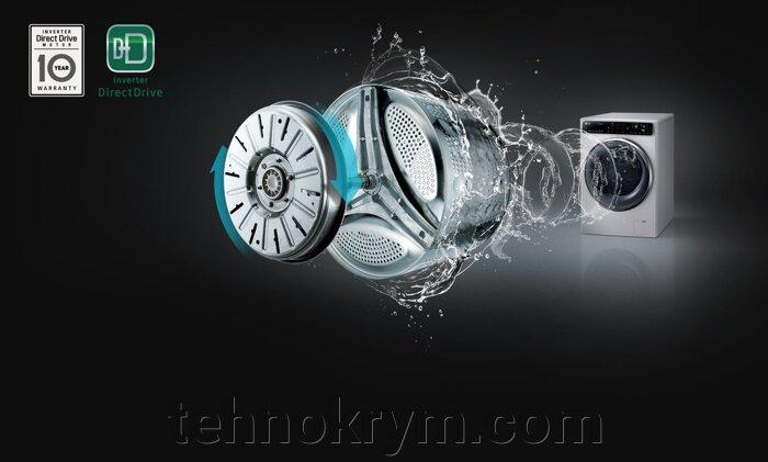 Стиральная машина LG FH0H3MD0 с прямым приводом и технологией «6 движений заботы», белый - фото Стиральная машина LG FH0H3MD0