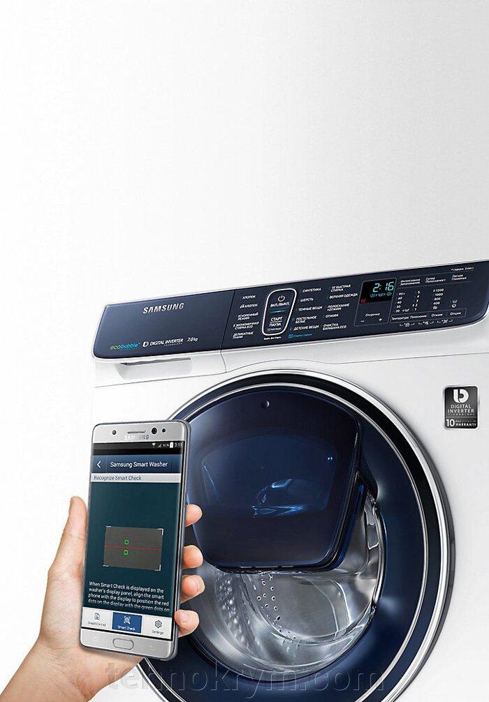 Стиральная машина с паром Samsung WW80K62E06WDLP с EcoBubble и инверторным мотором, 8 кг - фото Samsung WW80K62E06WDLP