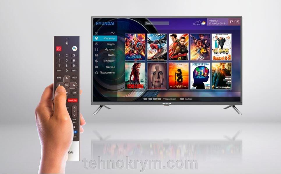 Smart телевизор Hyundai H-LED43ES5004, ОС Android 7.0 - фото Hyundai H-LED43ES5004