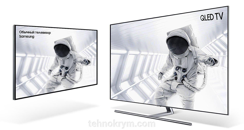 Smart телевизор Samsung QE75Q7FNAUXRU, Ultra HD, на квантовых точках, титан, ОС Tizen 4.0 - фото Samsung QE75Q7FNA
