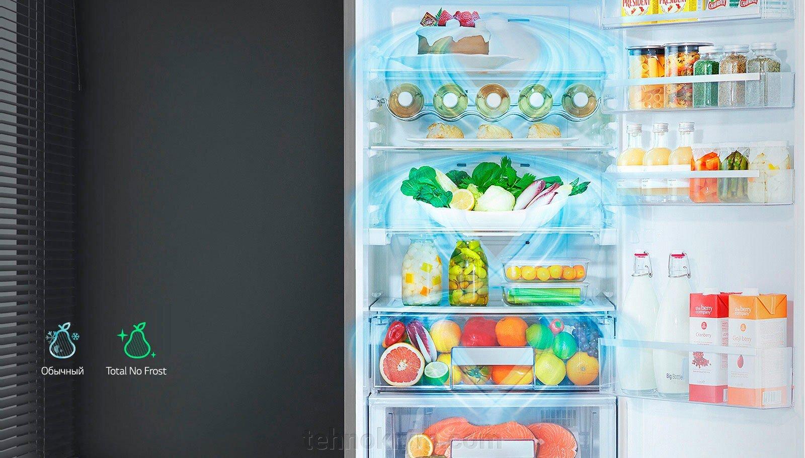 Двухкамерный холодильник LG GA-B379SQUL c инверторным  компрессором, белый - фото LG GA-B379SQUL