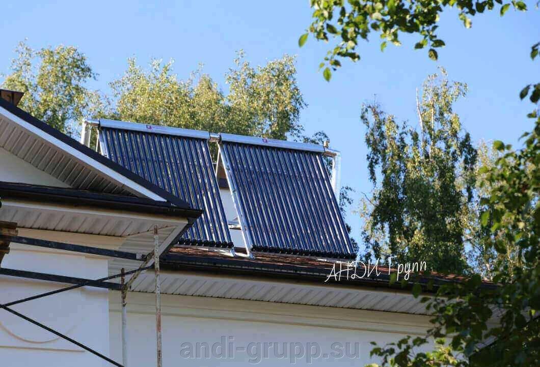 Нагрев воды солнцем - Солнечные водонагреватели - фото солнечные системы отопления