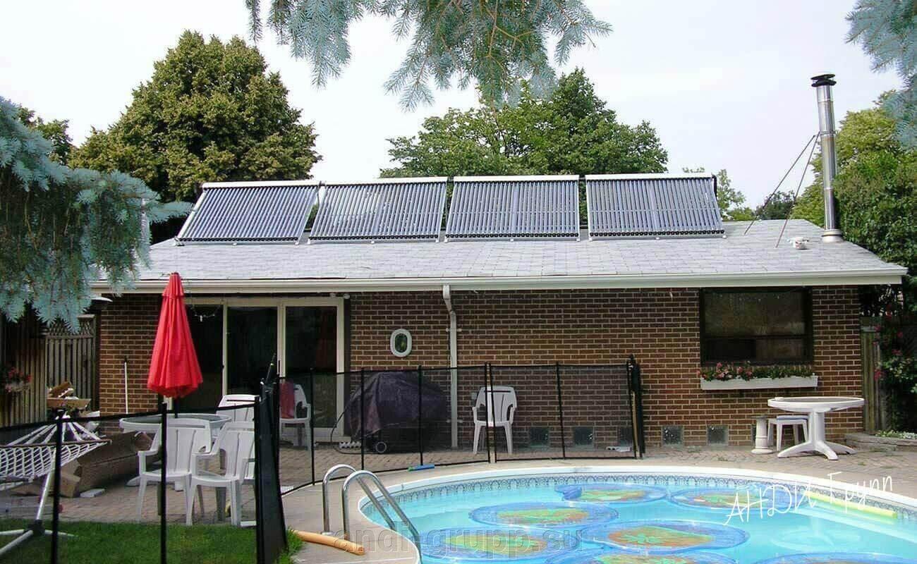 Нагрев воды солнцем - Солнечные водонагреватели - фото солнечные коллеторы для бассейна