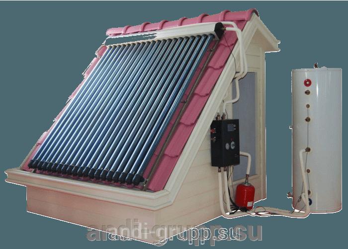Готовимся к отопительному сезону! Солнечные коллекторы для отопления и горячего водоснабжения! - фото солнечный коллектор для отопления и ГВС дома