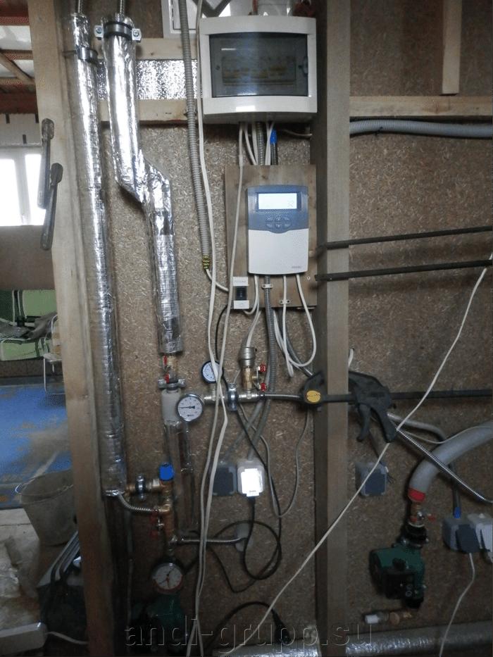 Солнечный коллектор в Калуге. - фото Шкаф управления