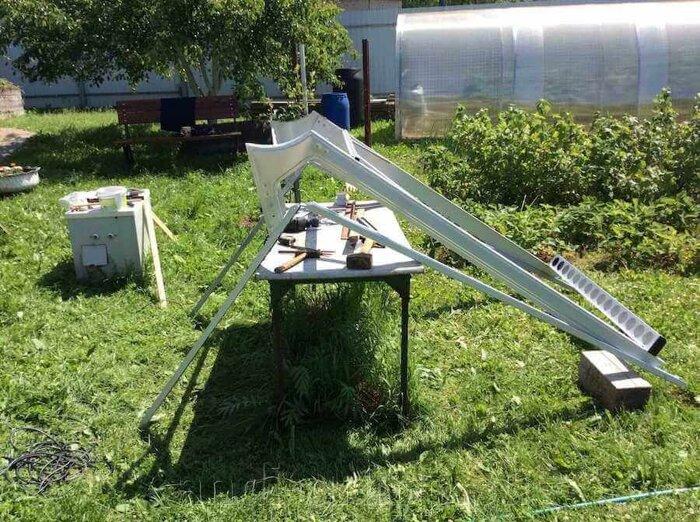 Рама солнечного коллектора система без давления