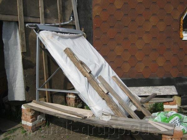Солнечный коллектор в Курганской области. Геокупольный дом. - фото Солнечный коллектор
