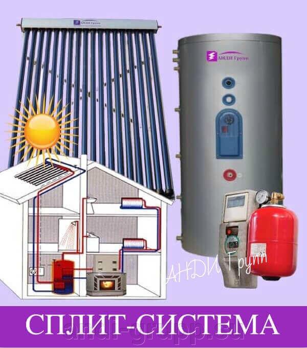 Монтаж солнечной сплит-системы для горячего водоснабжения - фото солнечная сплит-система Стандарт