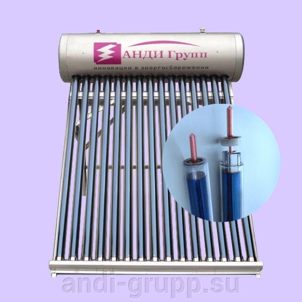 """Вакуумный солнечный коллектор СР-II-15 c тепловыми трубками """"Heat Pipe""""."""