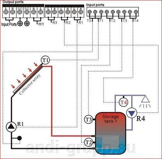 Схема подключения Контроллер SR 868С8
